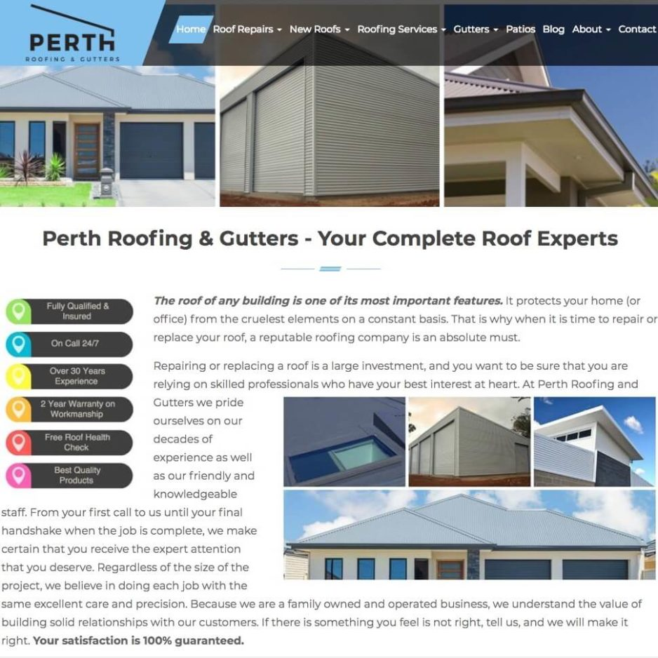 Perth Roofing and Gutters