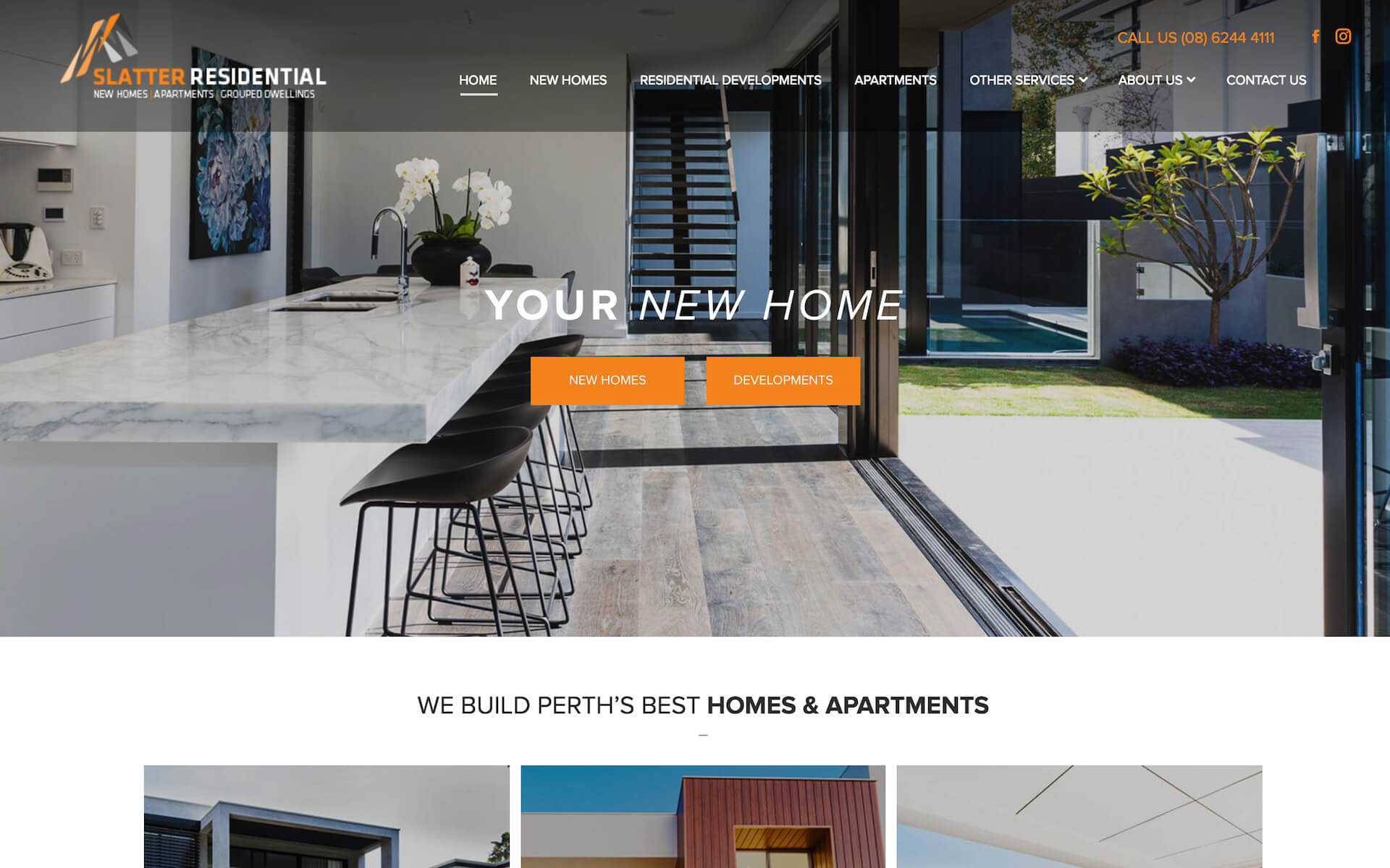 Before and after Digital Hitmen redesigned Slatter Residential