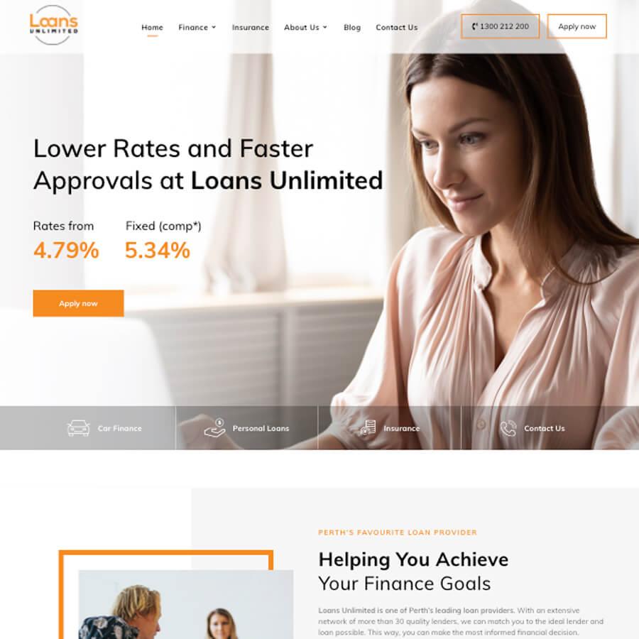 Loans Unlimited Website